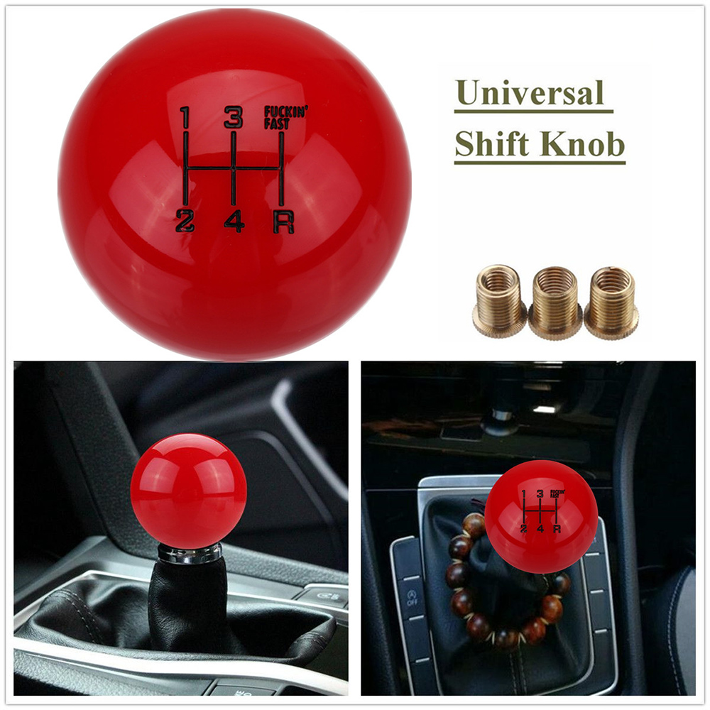 5 Speed Universal Gear Shift Knob Round Ball Car MT Manual Shifter Lever M10X1.5 Aluminum Car Accessories(China)