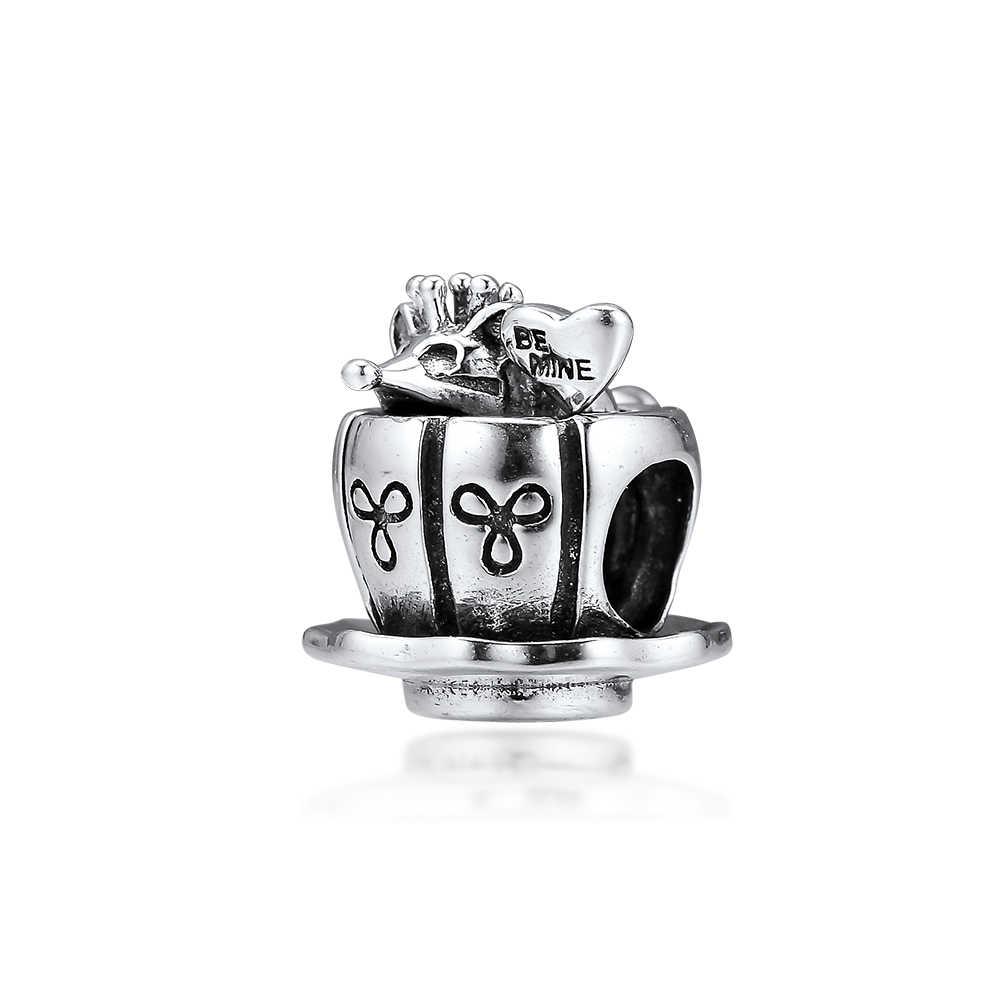 CKK Fit Pandora สร้อยข้อมือ Fairytale เมาส์ Charms เงินสเตอร์ลิง 925 Original สำหรับเครื่องประดับทำ Charm Joyas kralen