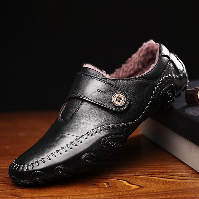 Split Leather Shoes Men Winter Shoes Black Moccasin Men Flats Shoes Men Loafers Luxury Brand Chaussure Homme Zapatos Hombre men cow split leather shoes casual loafers soft and comfortable oxfords non slip flats luxury brand designer shoe zapatos hombre