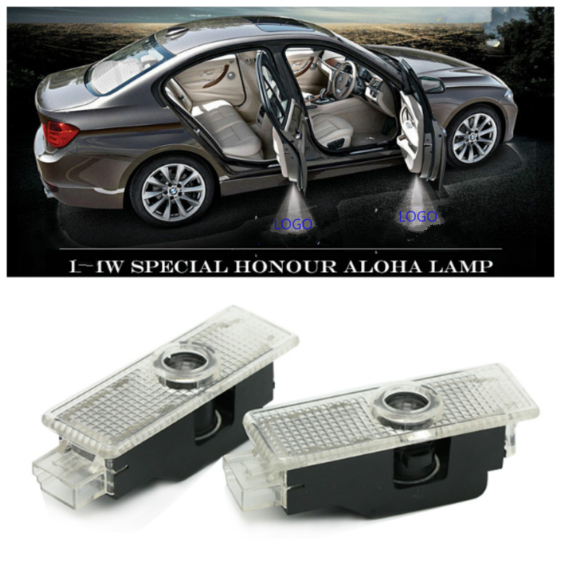 2X LED Car Door Courtesy Laser Projector Logo Ghost Shadow Light For BMW F30 E60 E63 E90 E87 E92 X3 X5 E70 X6 M M3 M5 F20 F10 GT image