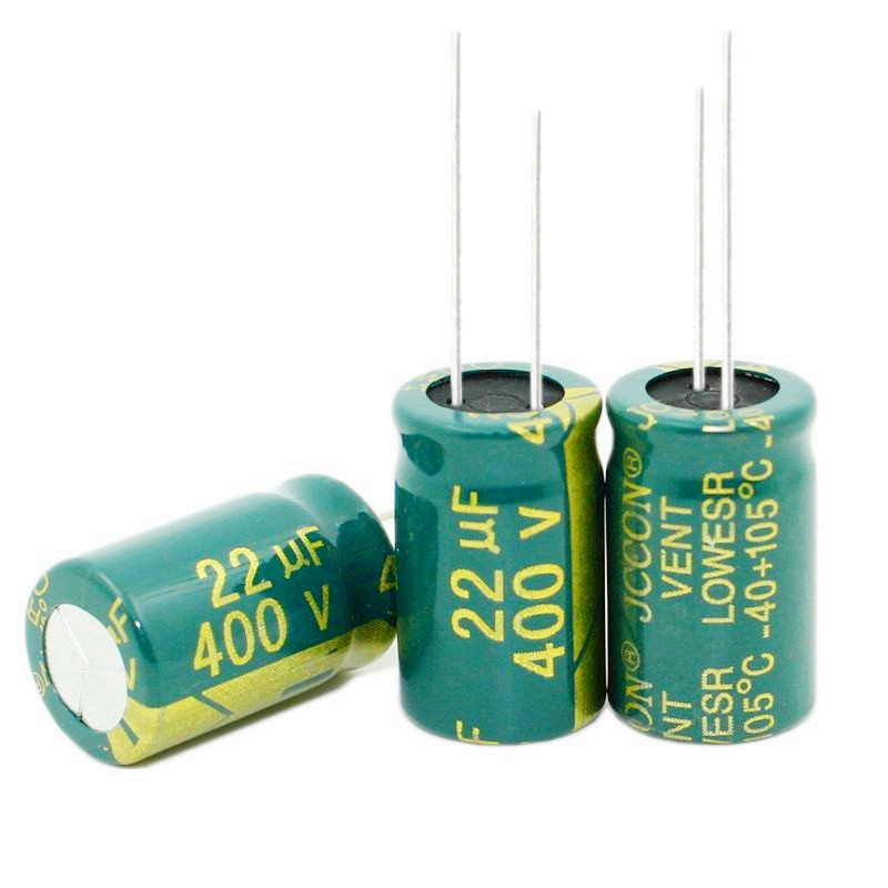 Free shipping 50PCS high-frequency crystal electrolytic capacitor 22UF 400V <font><b>400V22UF</b></font> 13X20MM best quality New origina image