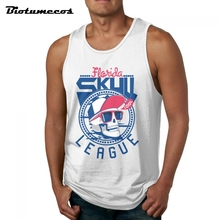 673410d565eb6 Summer Tank Top Men 100% Cotton Bodybuilding Sleeveless Undershirts League  Skull Wear White Hat And