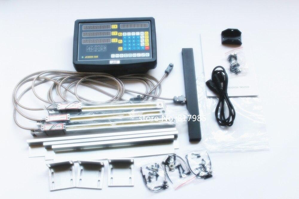 Новый 3-осевой цифровой индикации с линейной шкалой 50-1020 мм 5 микрон линейный кодировщик полный dro наборы