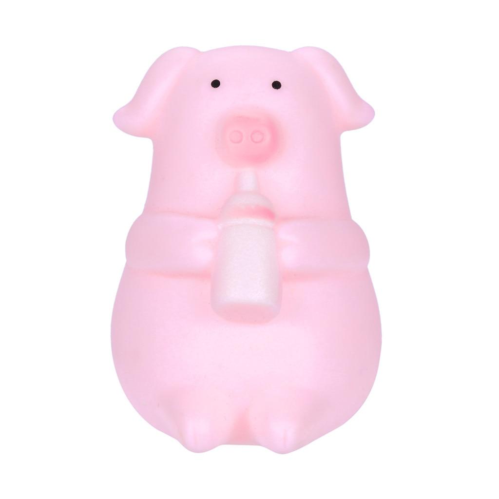 1 Coloue Squeeze Weiche 10 Stücke Nette Cartoon Rosa Schwein Spielzeug Prise Es Machen Pfeife Dekompression Spielzeug Z0218 Aromatischer Charakter Und Angenehmer Geschmack