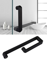 Premintehdw 304# Stainless Steel Round Square Glass Door Pull Handle Commercial Shower box Matt Black