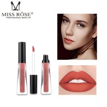 MISS ROSE 6 Color Liquid Lipstick Waterproof Matte Liptick Women Sexy Lip Makeup Cosmetic Long Lasting Easy To Gloss