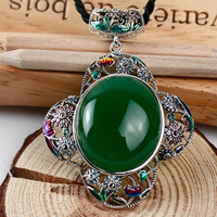 S925 silver accessories wholesale Folk Style Butterfly Pendant Necklace Cloisonne sweater