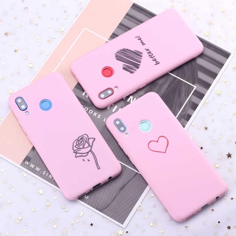 لسامسونج S8 S9 S10 S10e زائد ملاحظة 8 9 10 A7 A8 عنابي القلب الورود الدموع الحلوى سيليكون غطاء إطار هاتف محمول كابا Fundas كوكه