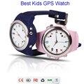 Colorido Niños GPS Reloj Teléfono TP061 compatible con IOS y Android teléfonos móviles inteligentes de Rosa/Azul/Verde/amarillo bebé reloj