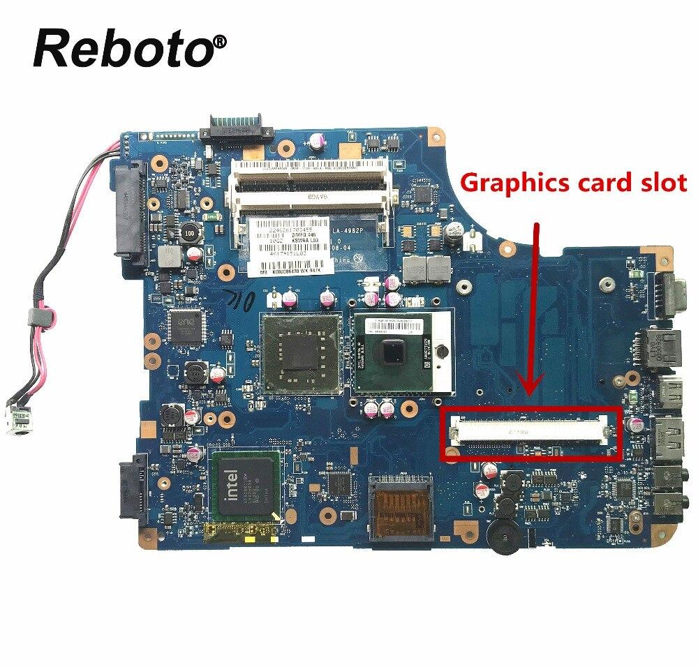 2019 Neuestes Design Reboto Für Toshiba Satellite L500 Serie Laptop Motherboard K000086430 Kswaa La-4982p Ddr3 Mb 100% Geprüft Schnelles Schiff Durchsichtig In Sicht