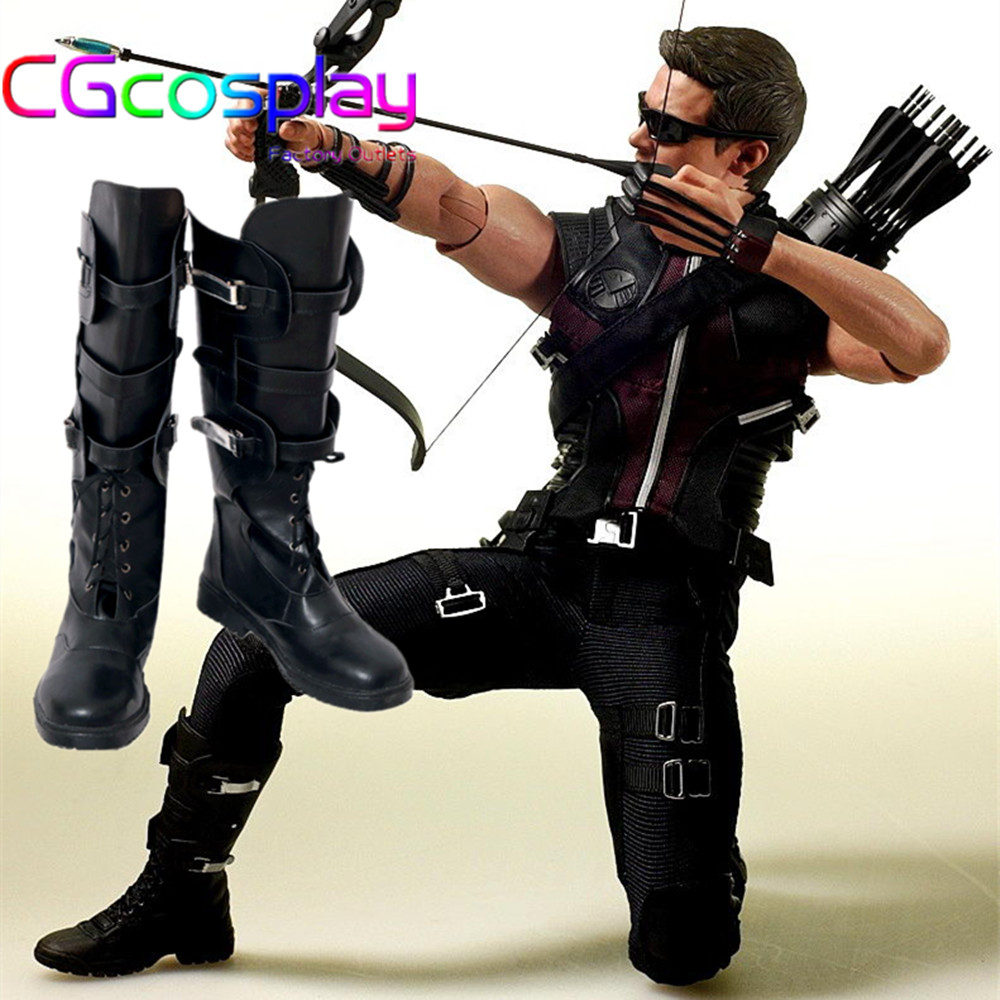 Express! Anime Cosplay chaussures les Avengers Hawkeye aigle jeu des yeux Cos Halloween noël fête Romanoff accessoires
