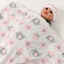 Baby Blanket Newborn Thermal Soft Fleece Blanket Swaddling Bedding Set