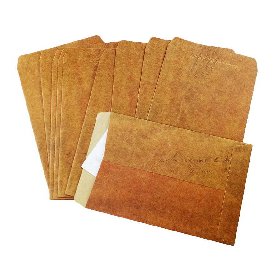 10pcs/lot  160*110mm European Style Vintage Kraft Paper Envelope For Postcard Novelty Item Kids Gift Stationery