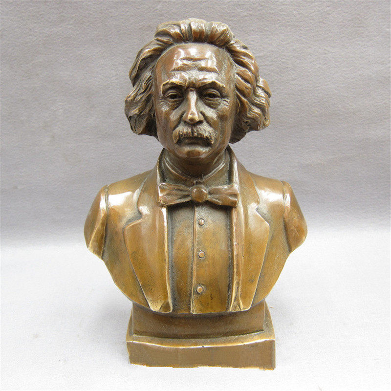 Scienziato Fisico Albert Einstein di Rame Puro Del Busto Statua di Stile Europeo Modello di Casa Decorazioni G1541Scienziato Fisico Albert Einstein di Rame Puro Del Busto Statua di Stile Europeo Modello di Casa Decorazioni G1541