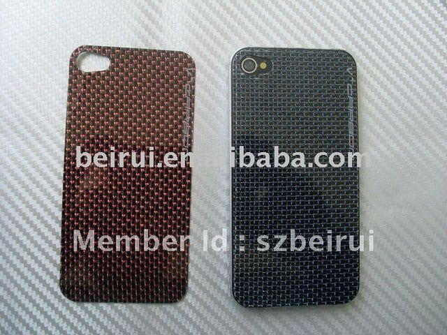 Carbon Fiber Screen Protector case  for Iphone4 Back body