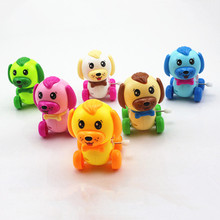 Wind Up Toys Vintage Baby Cute Cartoon Plastic Spring Pull Toy Stress Retro Cars Dog Car
