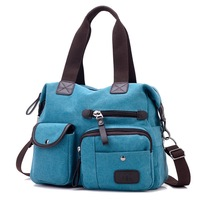 KVKY The New Canvas Bag Bag Shoulder Messenger Sports Cloth Leisure Travel Bags