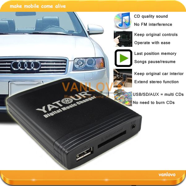 yatour digital music changer usb sd aux mp3 adaptor for. Black Bedroom Furniture Sets. Home Design Ideas