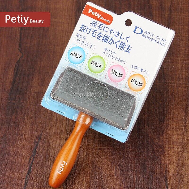 Ücretsiz kargo hava çanta yumuşak köpek masaj için slicker fırça pet uzun saç bakım ürünleri tarak kolayca