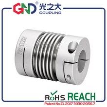 GRC Aluminum Alloy Bellows Clamp Series GND shaft couplings D16XL27mm; D1 D2: 4/5/6/6.35/7/8mm цены