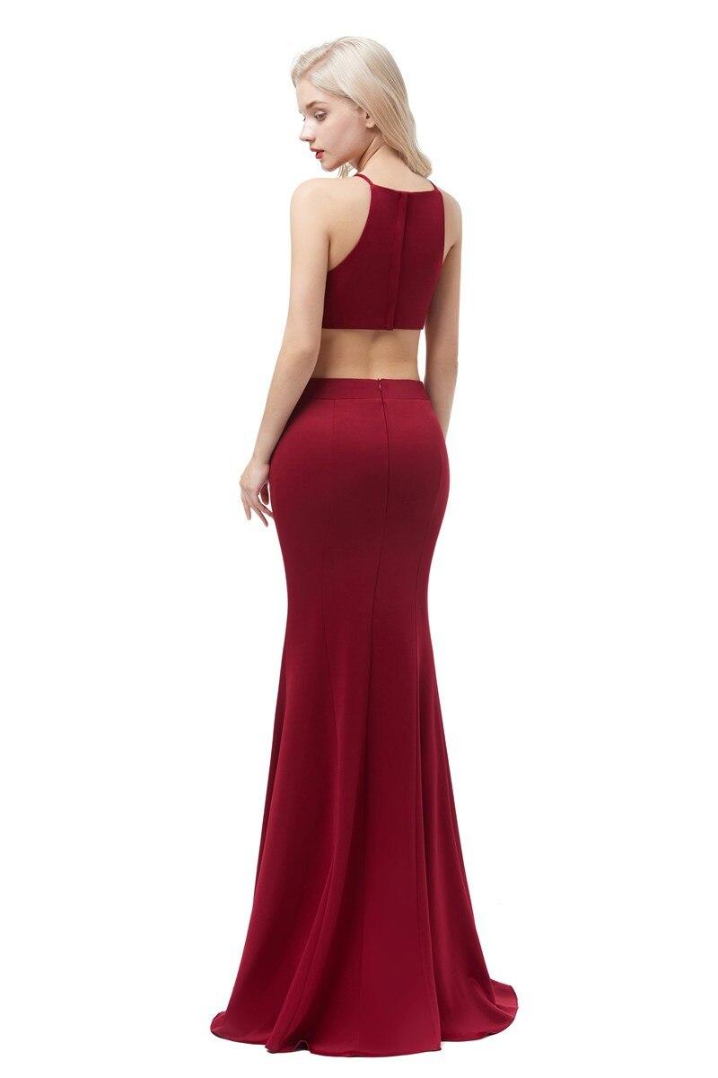 Винно красные сексуальные  вечерние платья из сатина Длинные