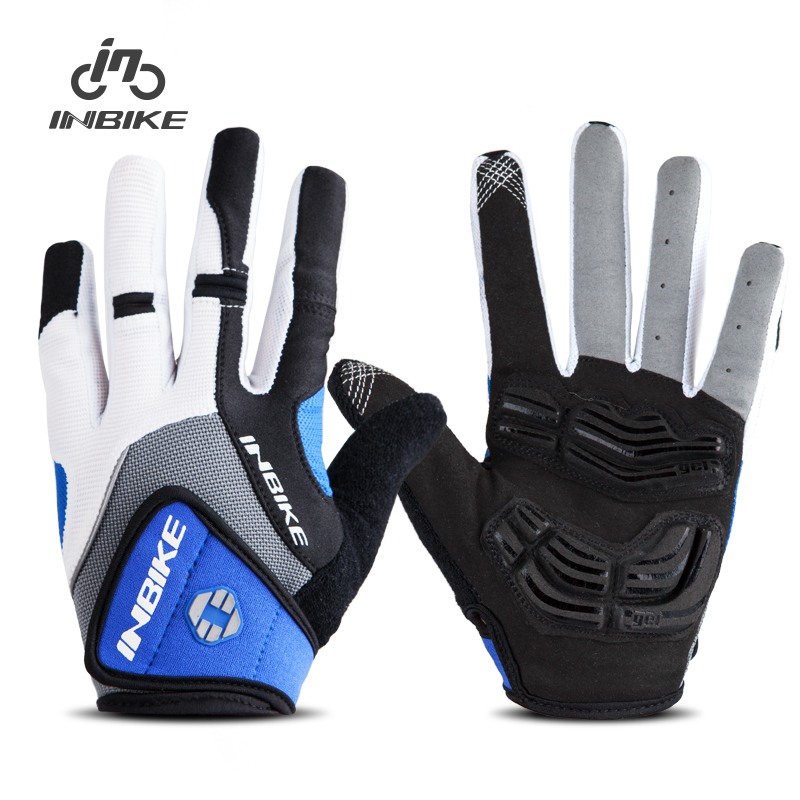 INBIKE Cycling Gloves Full Finger 5MM Gel Padded Bicycle Bike Gloves 2 Colors Sport Gloves Motorcycle Bicycle Equipment Gloves