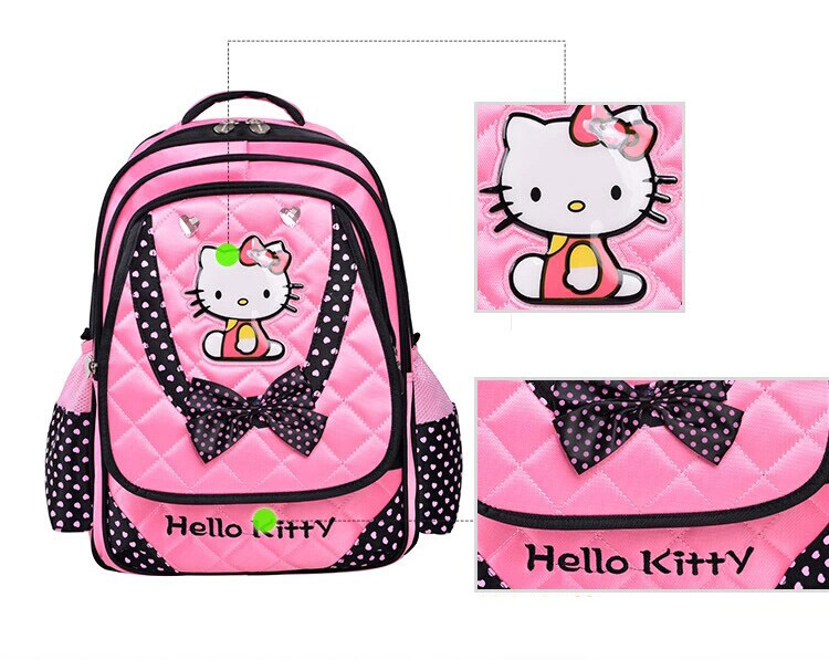 2895b3639b30 jmall 2014 hot Cute pink hello kitty bow orthopedic children school bags  for teenagers girls backpack mochila infantil-in School Bags from Luggage    Bags on ...