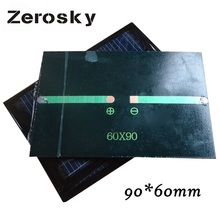 Zerosky Solar Panel 0.6W 6V Mini Solar System DIY For Battery Cell Phone Chargers Portable Solar Cell High Quality