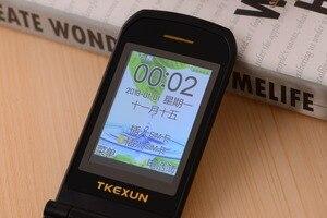 Image 4 - Teléfono de lujo para personas mayores TKEXUN G9000 G3, gran sonido teclado grande, linterna de 1600mAh, bluetooth, teléfono móvil para personas mayores