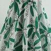 HLQON Bamboo Leaves Print Chiffon Satin Fabrics For Wedding Dress Skirt Curtains Dolls Bedding Textile Upholstery