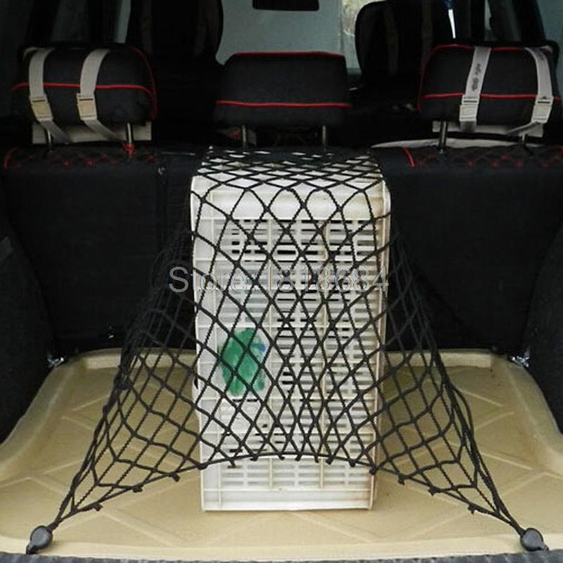 Für Ford Kuga/Escape 2013-2015 Schwarz Nylon Seil Elastische Auto-kofferraum-boot-gepäck-ladung Lagerung Net Mit Bungee-seil 1 teile/satz