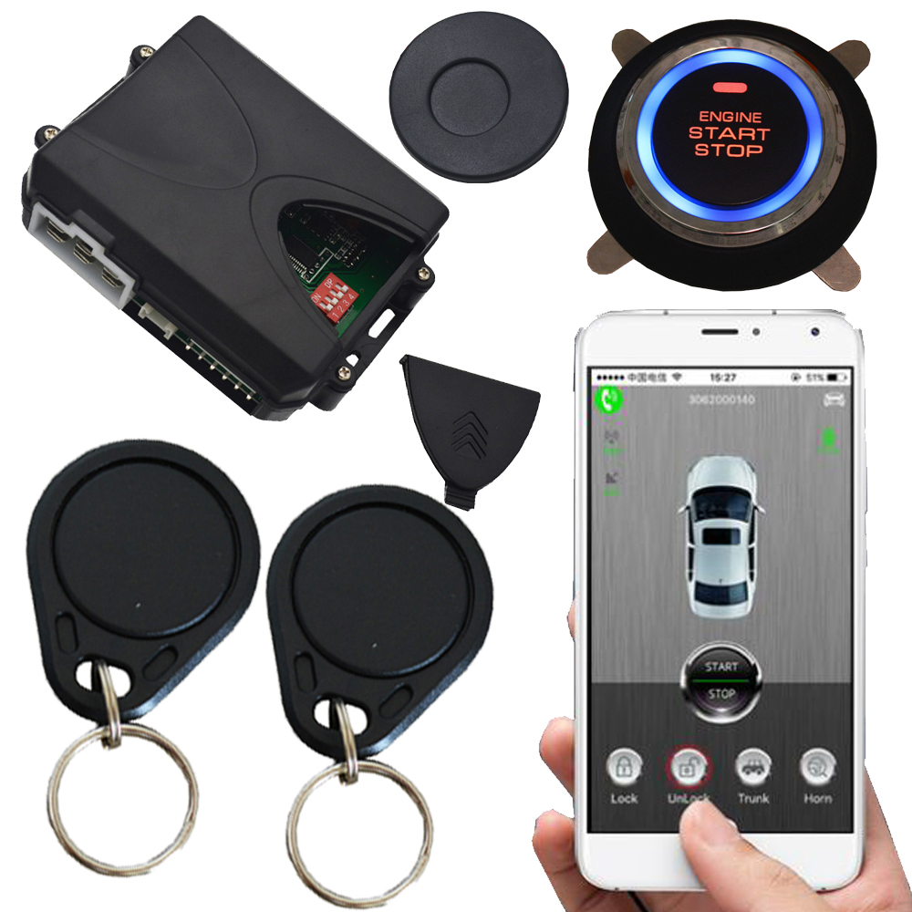 2018 new cardot auto car electronics alarm system mobile gps app start stop car engine working with original car remote key