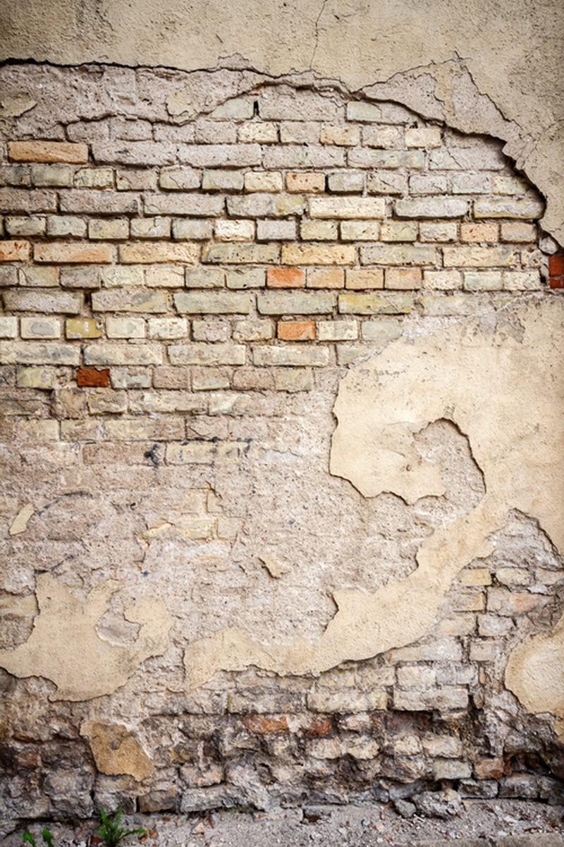 Custom Vinyl Cloth Grunge Broken Brick Wall Photography Backdrops For Wedding Model Photo Studio