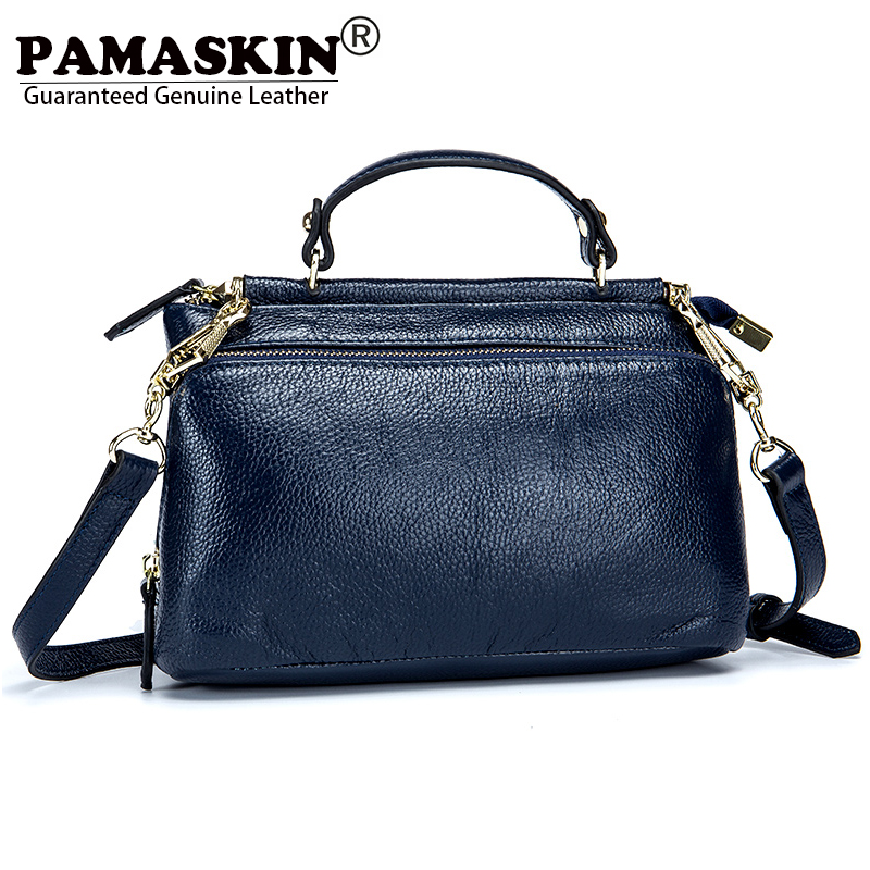 PAMASKIN 2018 New Arrivals Women Shoulder Bags Handbag Luxurious Genuine Leather Ladies Cross-body Bag Messenger Bags Business
