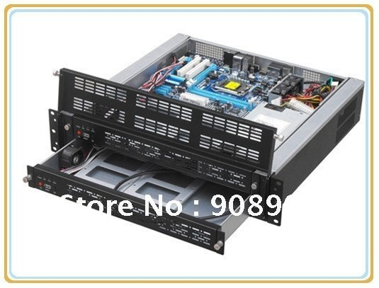 Mini Blade Server Case RC2440 2U Rack Mount Chassis