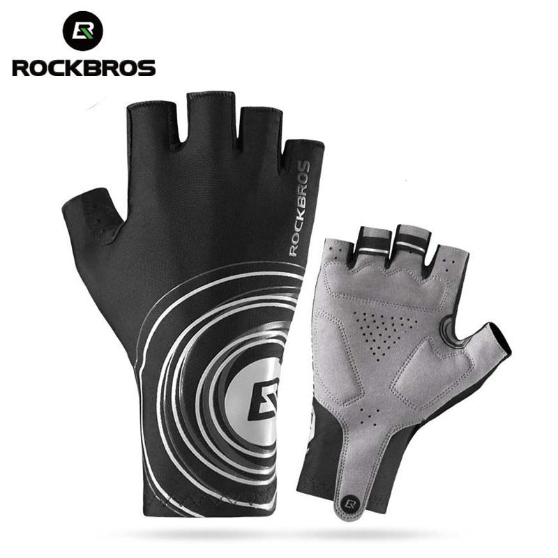 ROCKBROS Hiking <font><b>Gloves</b></font> Outdoor Sport <font><b>Gloves</b></font> Men Half Finger Anti Slip Gel Pad Cycing Bike <font><b>Gloves</b></font> Plus Size Sports Hik <font><b>Gloves</b></font>