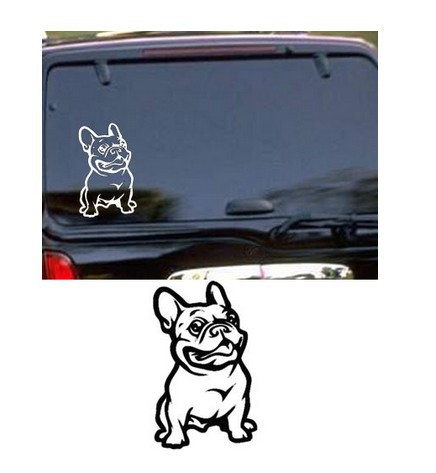 Strong Adhesive Stickers French Bulldog Dog Car Sticker Vinyl Car Decal for all Sedan Car Body Sticer Free Shipping Registed
