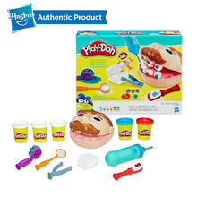 Hasbro Play Doh Little Dentist Colorful Mud Fun Pie Children's Soft Clay Playa Creative Play Doh DIY Toys Set Slime Clear Fluffy(China)