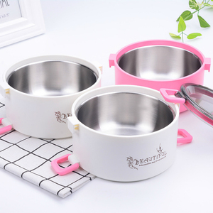 Italy Stainless Steel Thermal Insulation Lunch-box Microwave Tiffin Lunch Bento Box Seal Up Retain Freshness Container For Food