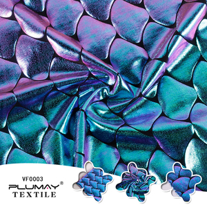 Image 2 - Iridescent Laser Sparkly Mermaid Costume Fabric DIY Hologram Spandex 4 Way Stretchy fabric for skirt tail swimwear