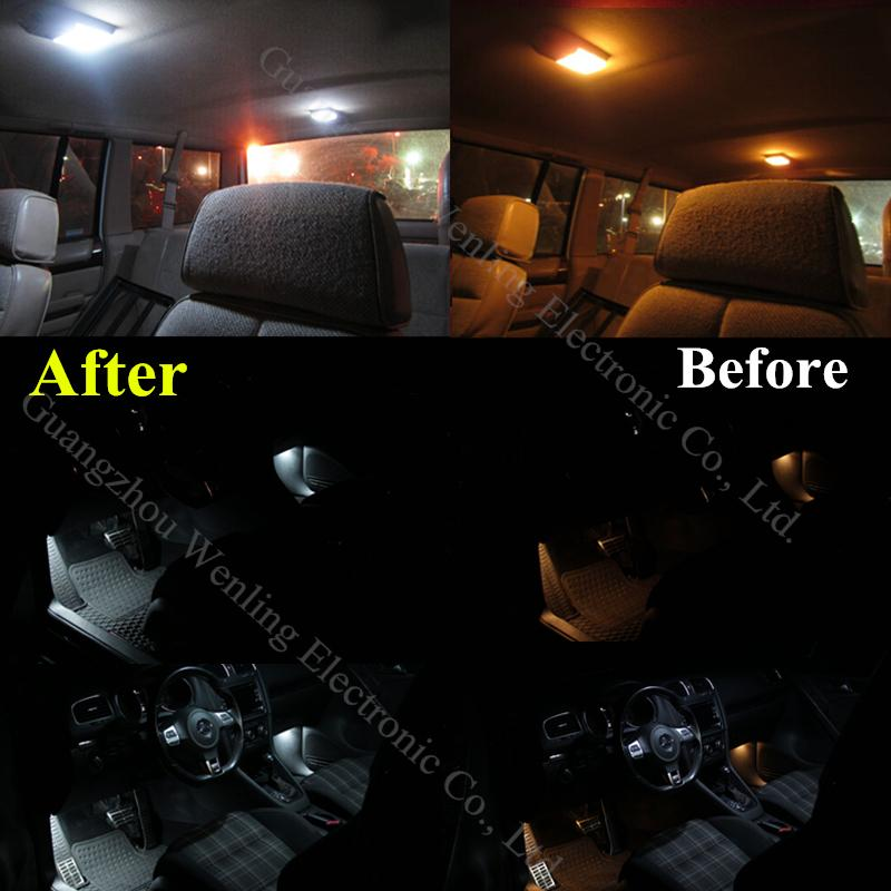WLJH 20x Canbus Pure White Car Light Bulb Dome Map Vanity LED Interior  Lighting Kit For BMW X3 Series F25 2011 2012 2013 2014 In Signal Lamp From  ...