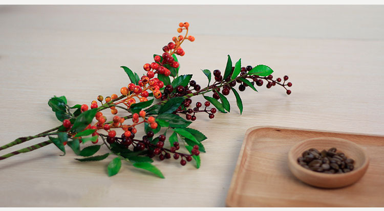 Buy length67cm red orange long for Artificial pomegranate decoration