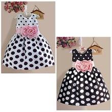 Baby Dress Clothes Princess Baby Kids Girls Party Wedding Polka Dot Flower Gown Fancy Dress Princess 2-7Y