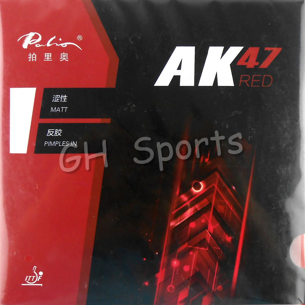 Palio AK 47 AK47 AK-47 RED Matt Pips in Table Tennis Rubber With Sponge for PingPong Racket 2.2mm H45-47 [playa pingpong] andro revo fire pips in table tennis pingpong rubber with sponge