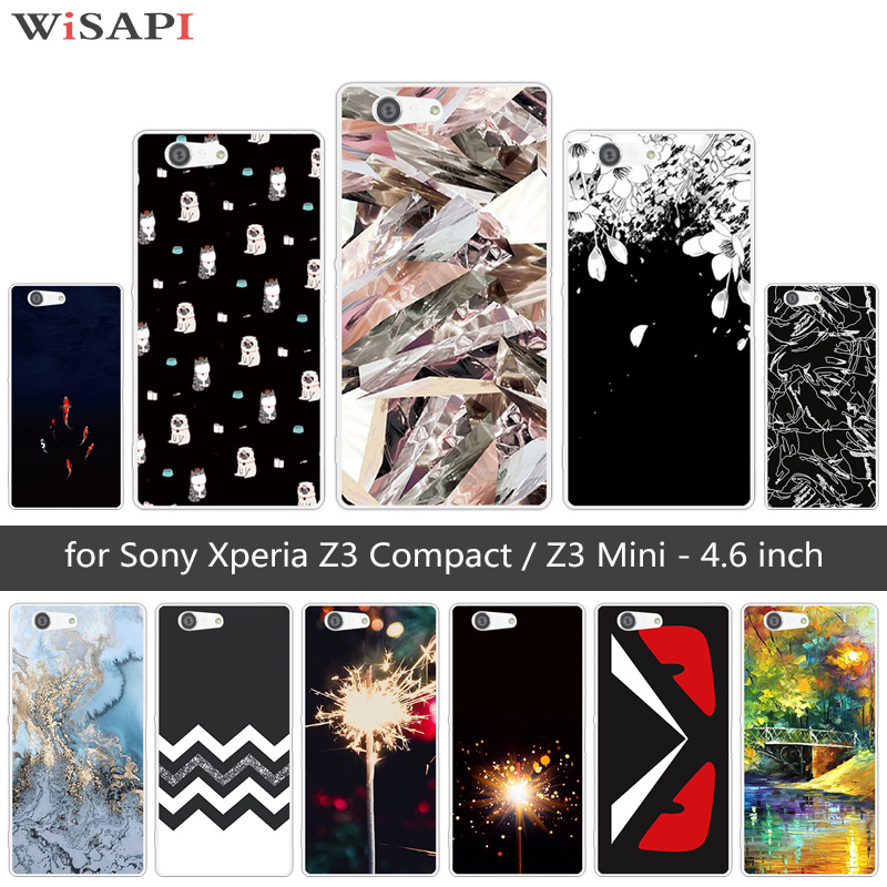 for Sony Xperia Z3 Compact Mini D5803 D5833 Soft TPU Cases Clear Silicone Dark Back Cover for Sony Xperia Z3 Mini Coque