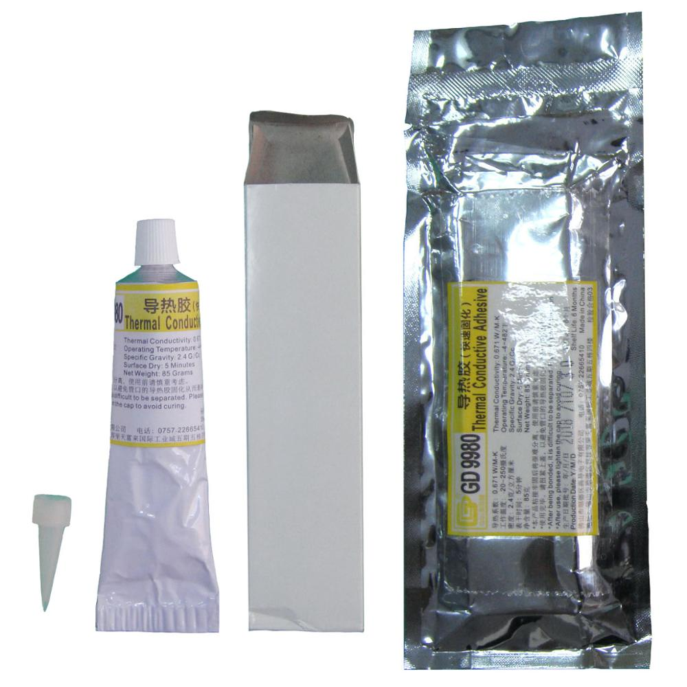 GD9980 Thermally Conductive Adhesive Cement Glue Heat Sink Plaster Silicone White For LED VGA ST85 ST10