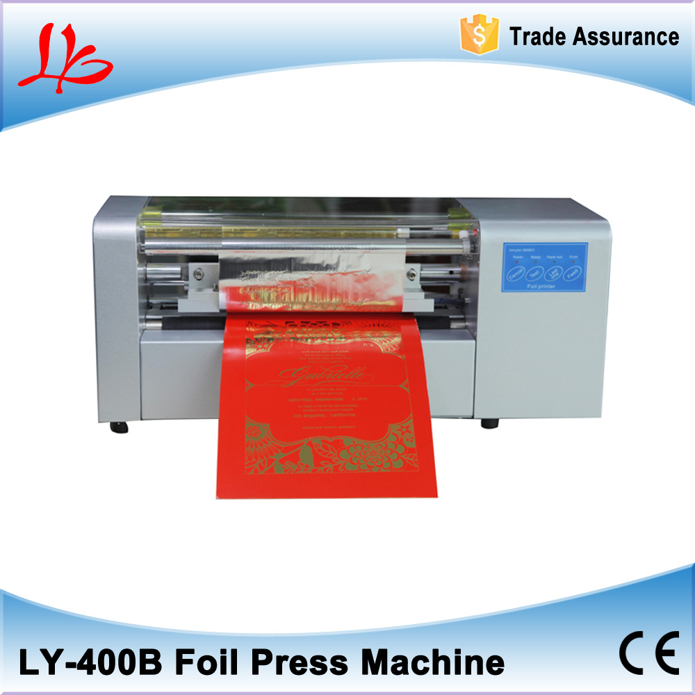 best sales color business card printing LY 400 foil press machine ...