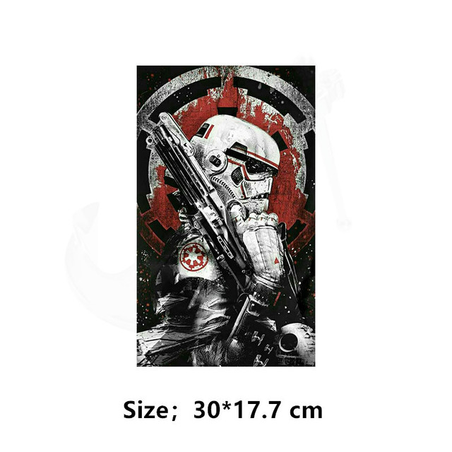 Europe popular elements Star Wars Patch for clothing 30*17.7 cm iron on patches Diy T-shirt Dresses thermal transfer sticker