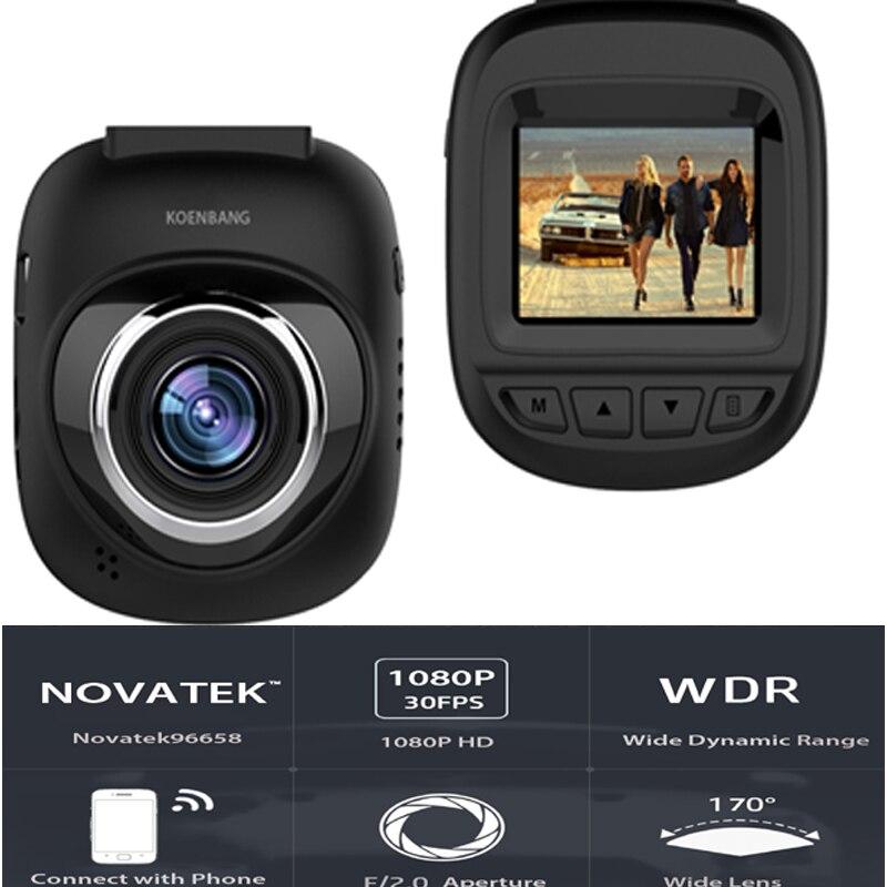 KOENBANG WiFi voiture DVR enregistreur DVR caméra tableau de bord caméra enregistreur vidéo numérique caméscope 1.5