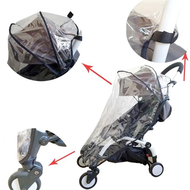 Compatibel Regenhoes Weer Schild Plastic Clear Netting voor Babyzen YOYO + Plus Wandelwagen 1